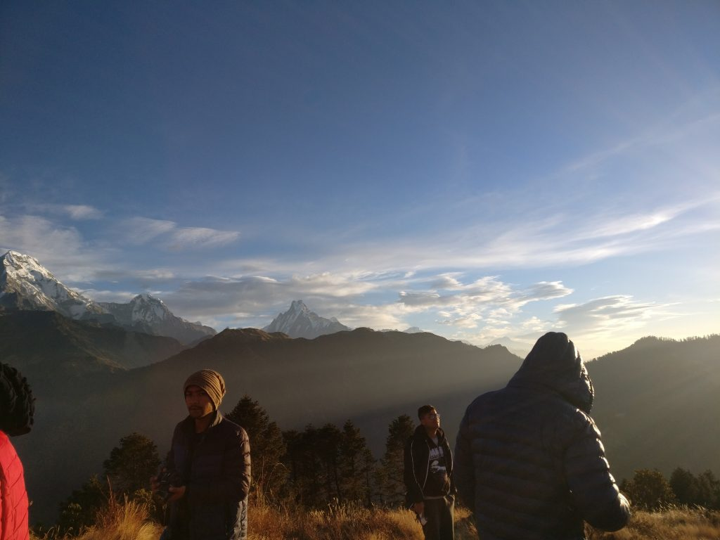 While Trekking to Poon Hill