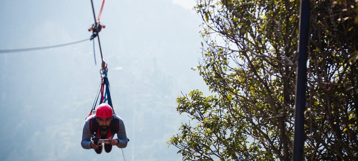 Zipline in Nepal