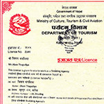 Tourism License of Adventure vision treks and travels