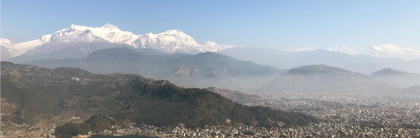 Pokhara City from World Peace Pagoda