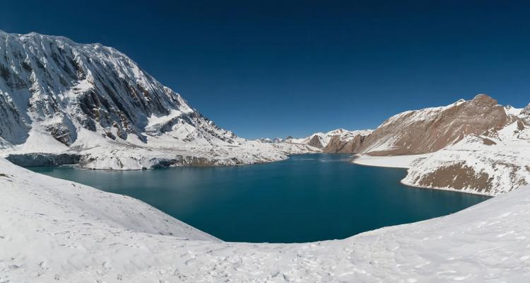 Tilicho Lake trekking in spring 144