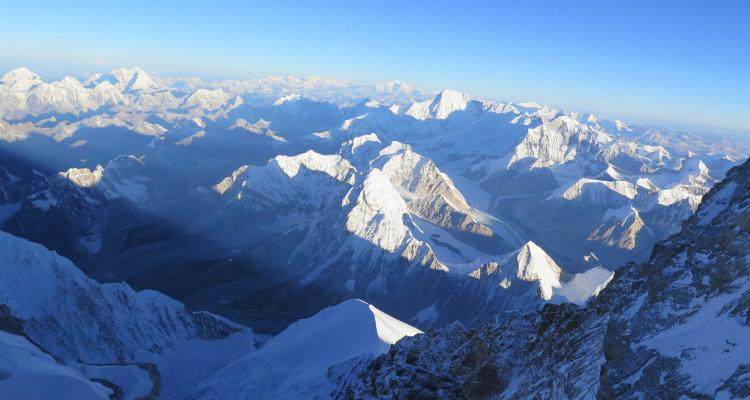 Mount Everest view from Helicopter 148
