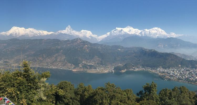 Annapurna Range view from Pokhara during Family tour in Nepal 99