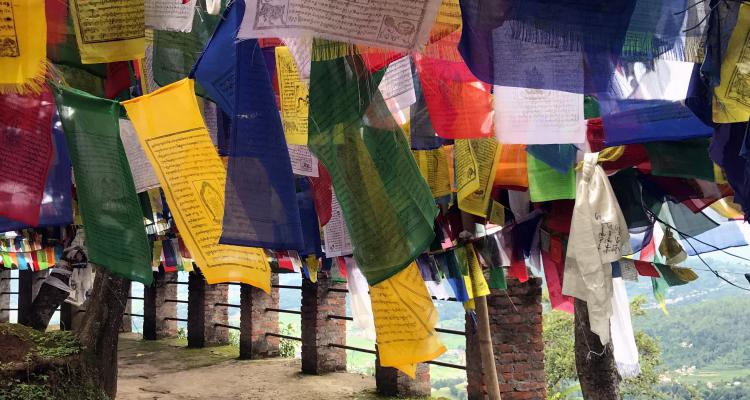 Tibetan Prayers Flags in Namobuddha 79