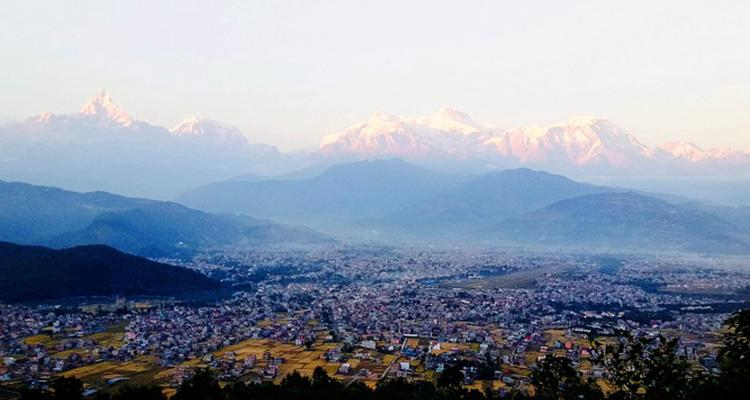 Pokhara city with Himalayan Background 55