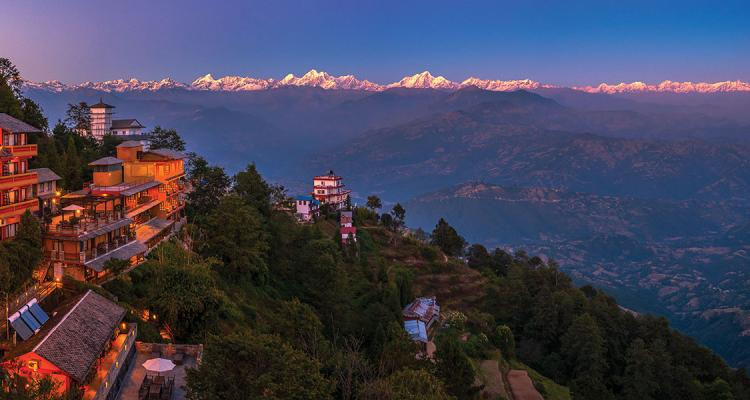 Nagarkot view including Hotel Country Villa  18