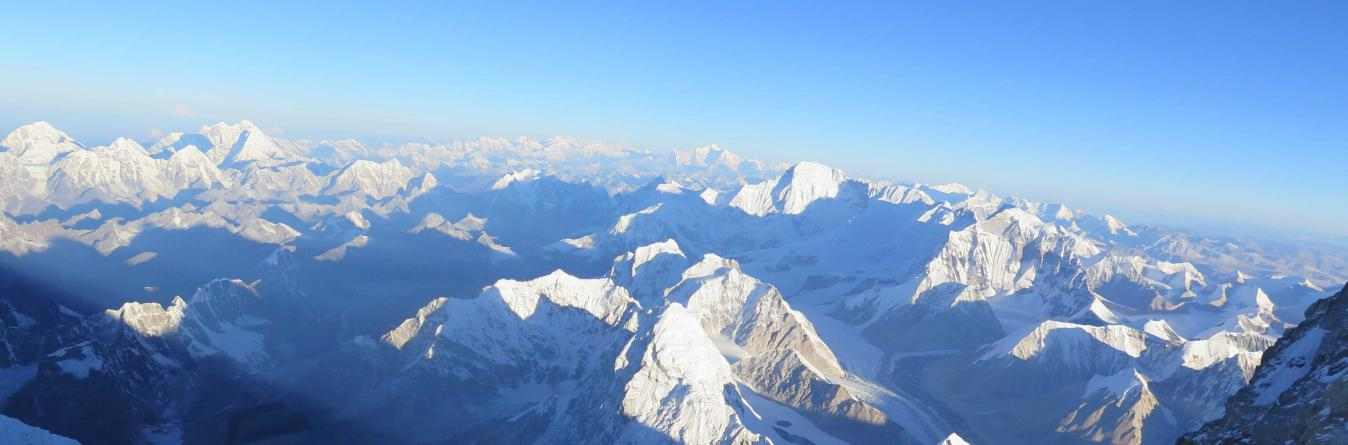 Mount Everest view from Helicopter