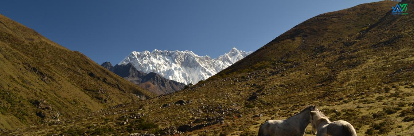 During Everest Base Camp trekking trail.