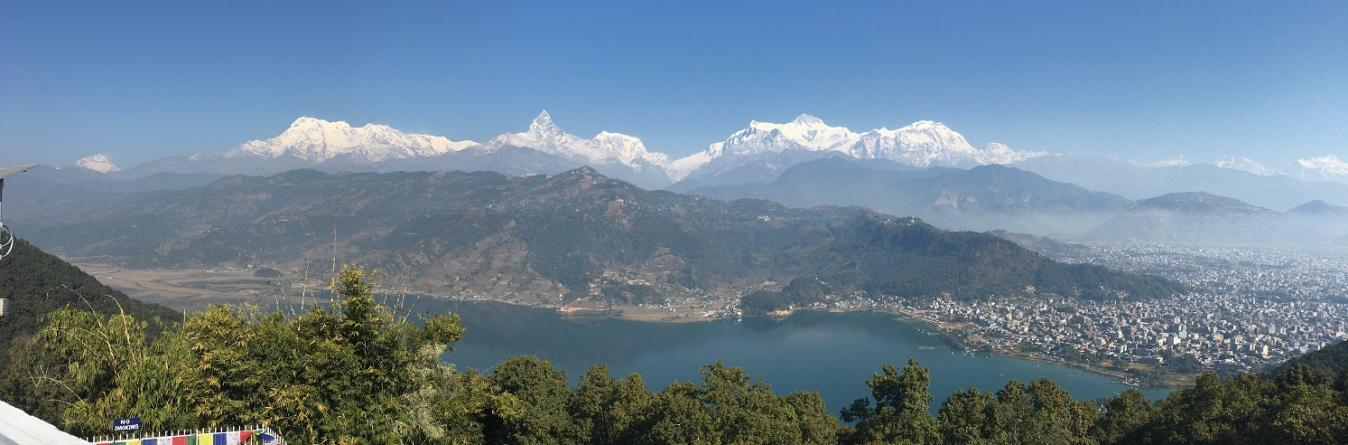 Annapurna Range view from Pokhara during Family tour in Nepal