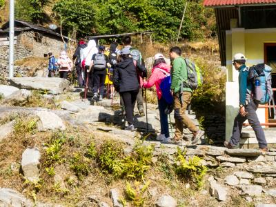 Annapurna base camp trekking Group