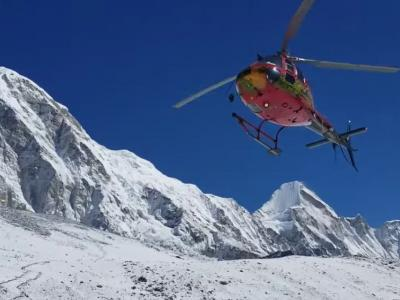 Heli Take Off in Everest Base Camp