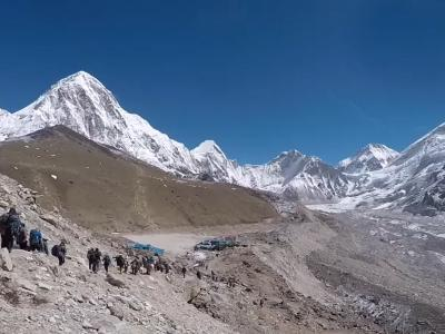 Trekking Group near Everest Base camp