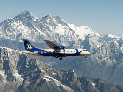Mountain Flight with Buddha air