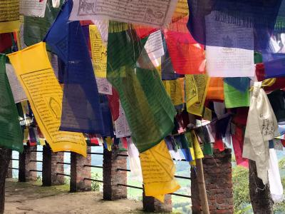 Tibetan Prayers Flags in Namobuddha