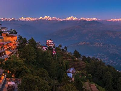 Nagarkot view including Hotel Country Villa
